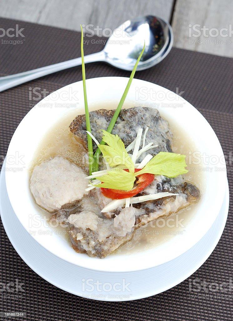 fish and taro soup royalty-free stock photo