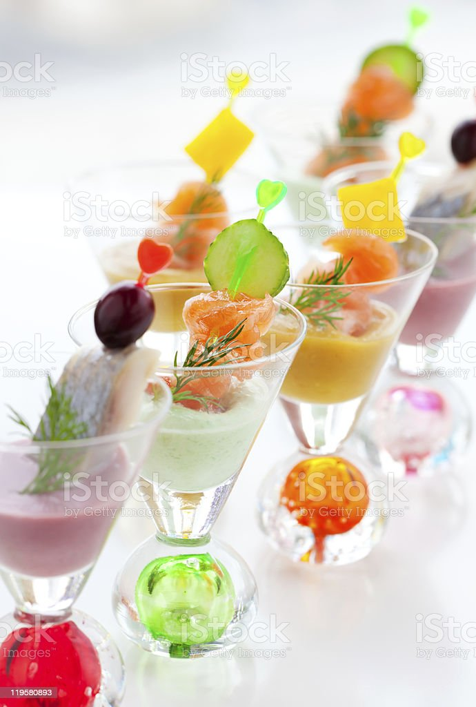 fish appetizers for Holiday stock photo