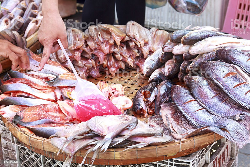 Fish at the market in Thailand royalty-free stock photo
