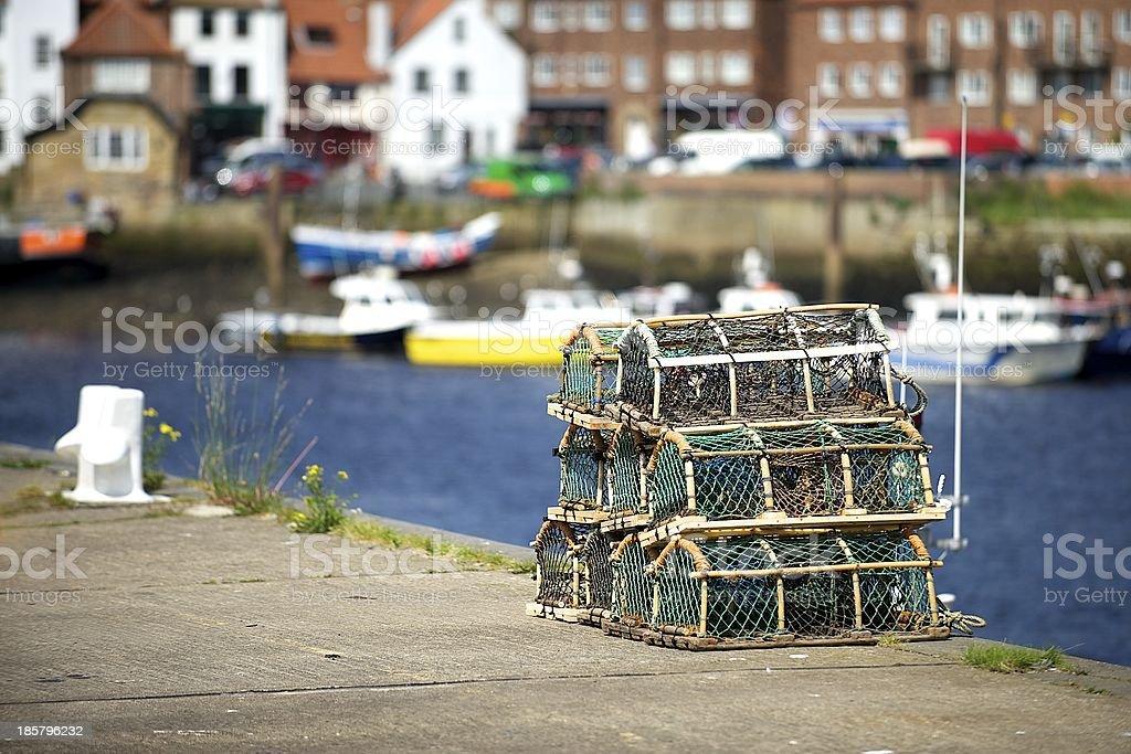 Fish baskets royalty-free stock photo