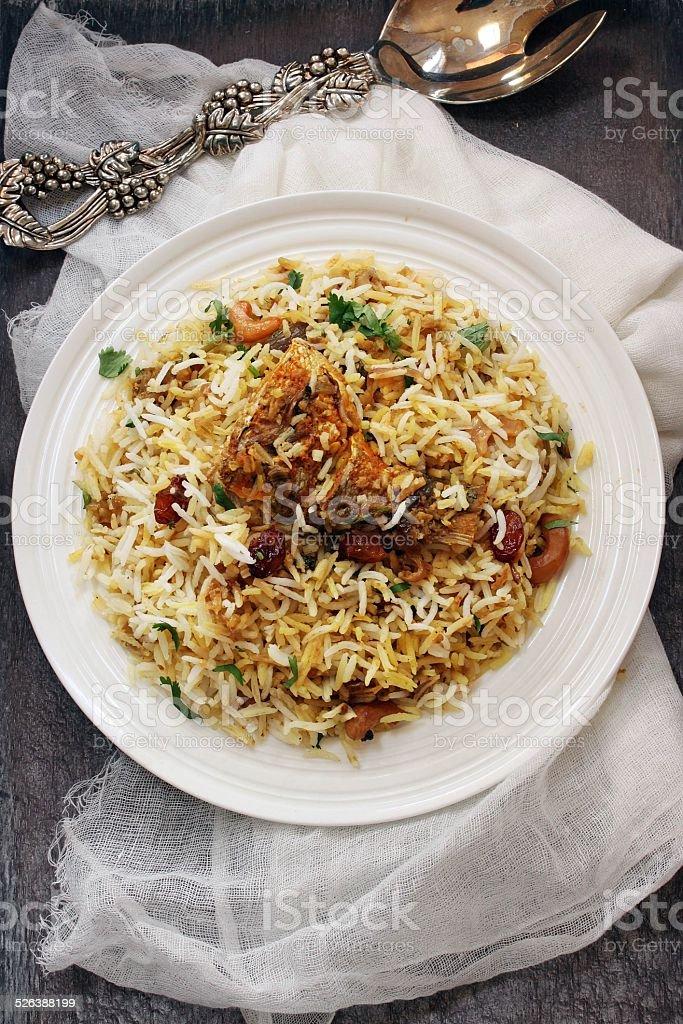 Fish Biryani stock photo