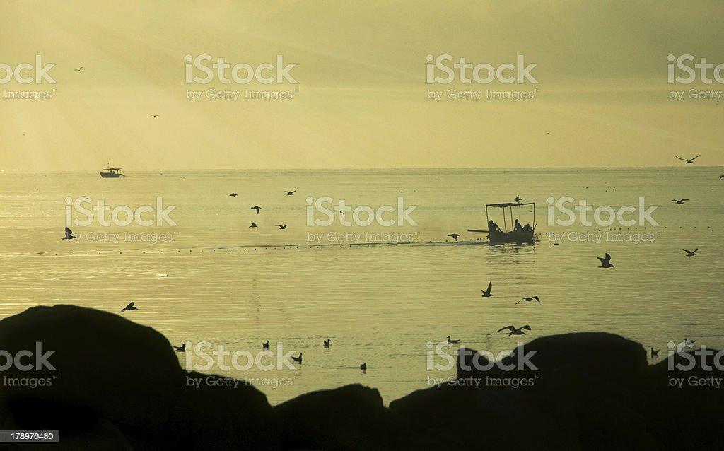 fish boat royalty-free stock photo