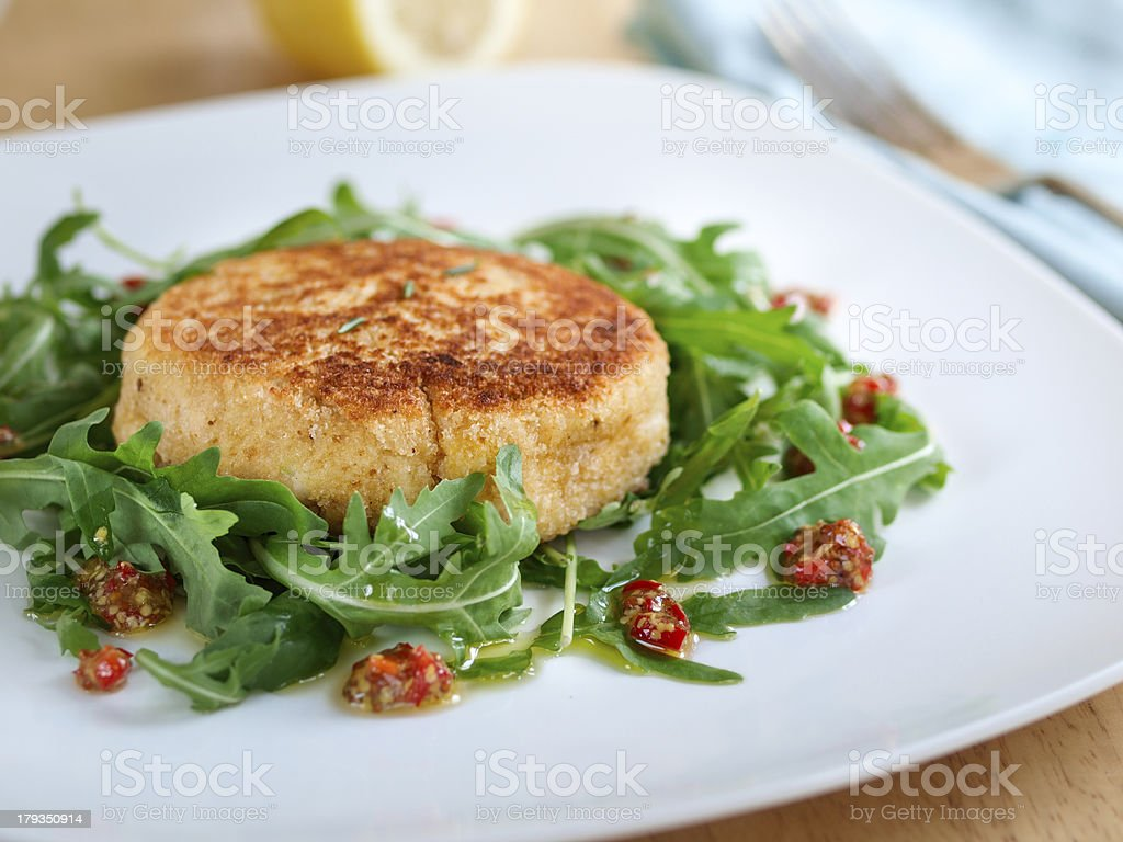 Fish cake stock photo
