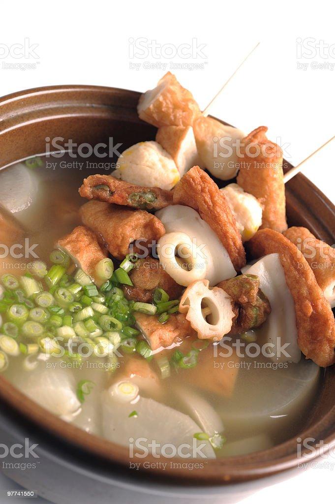 Fish Cake Soup royalty-free stock photo
