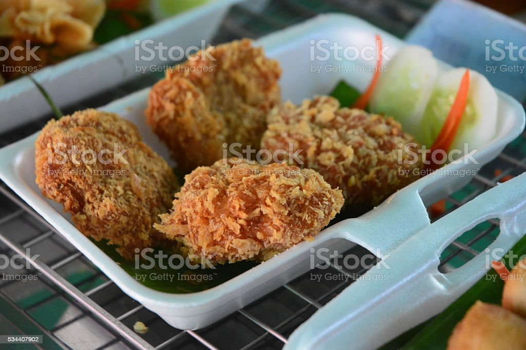 Fish cakes stock photo