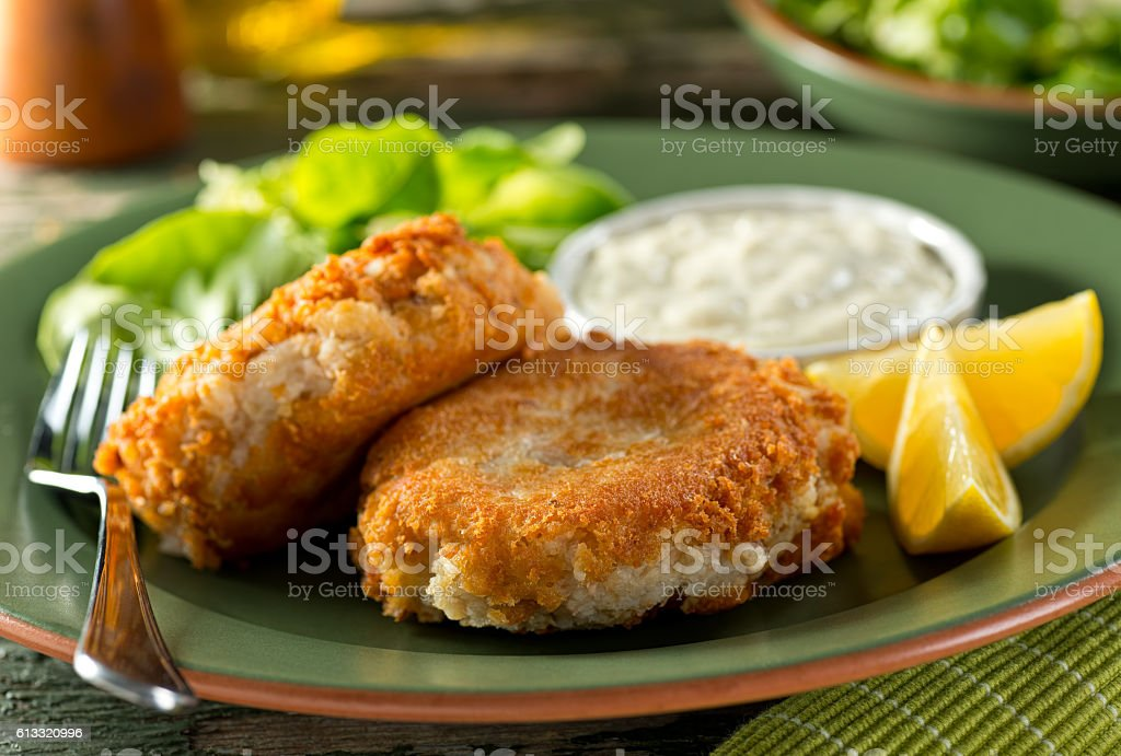 Fish Cakes stock photo