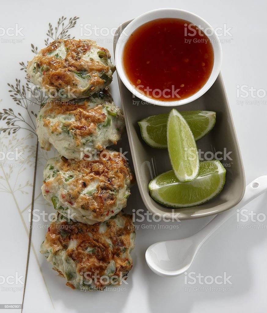 Fish cakes royalty-free stock photo