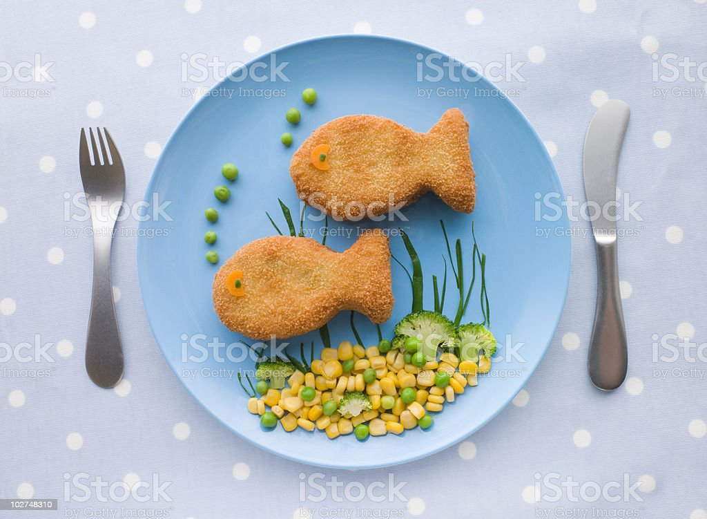 Fish Cakes with Vegetables royalty-free stock photo