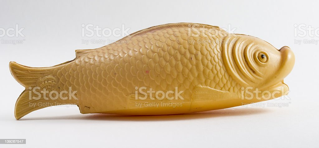 Fish, celluloid toy stock photo