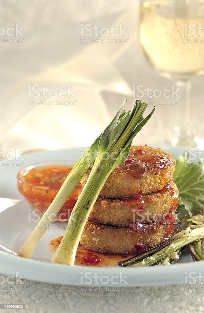 Fish & Chilli Sauce royalty-free stock photo