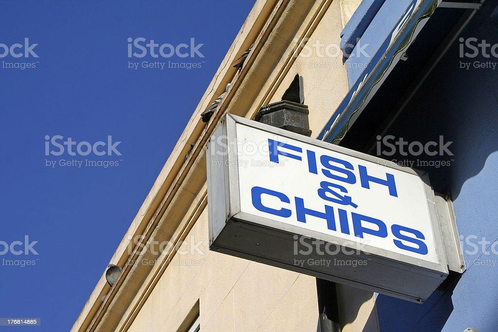 Fish & Chip shop stock photo