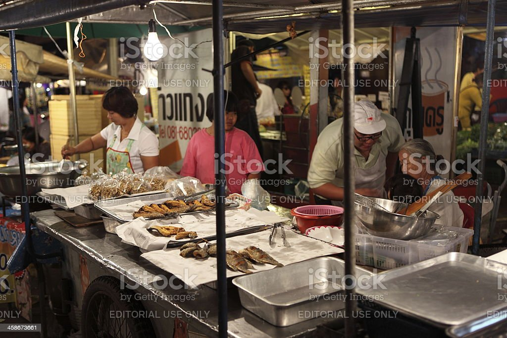 Fish cooking in Thailand royalty-free stock photo