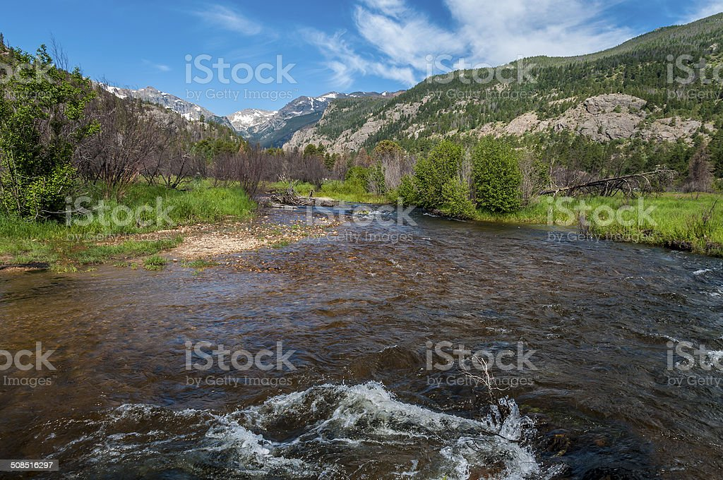 Fish Creek Beaver Ponds in Rocky Mountain National Park Colorado royalty-free stock photo