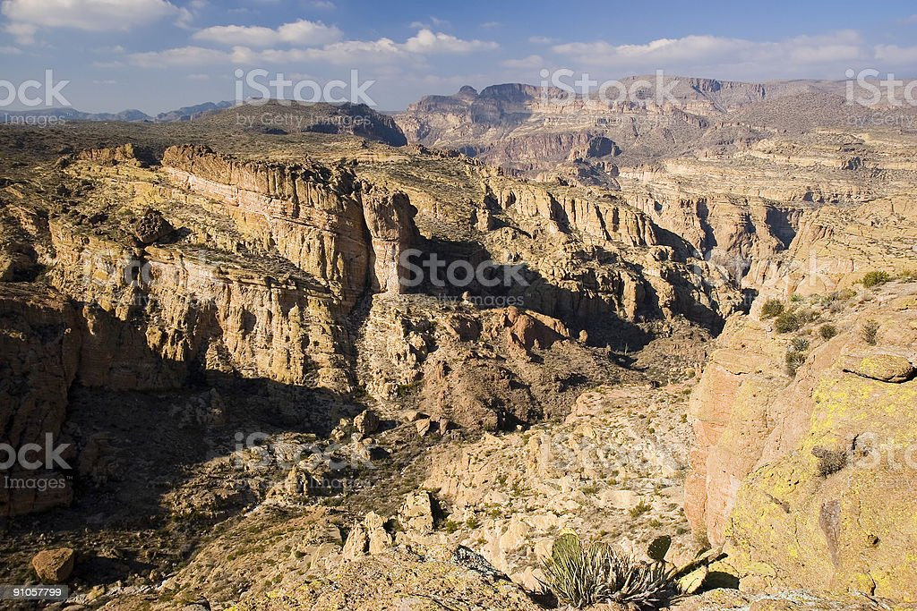 Fish Creek Canyon stock photo