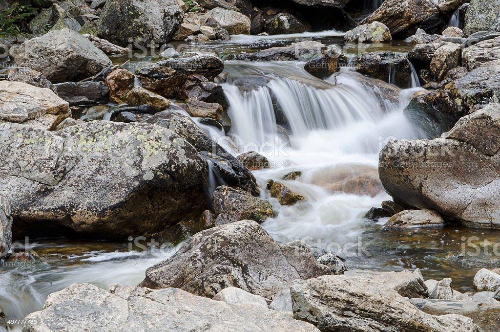 Fish Creek Falls at Steamboat Springs, Colorado stock photo