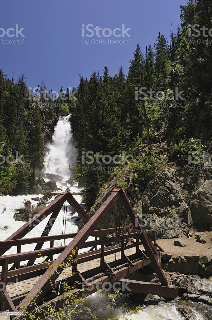 Fish Creek Falls Bridge stock photo