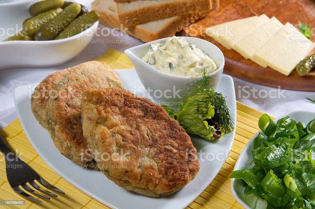 fish cutlet royalty-free stock photo