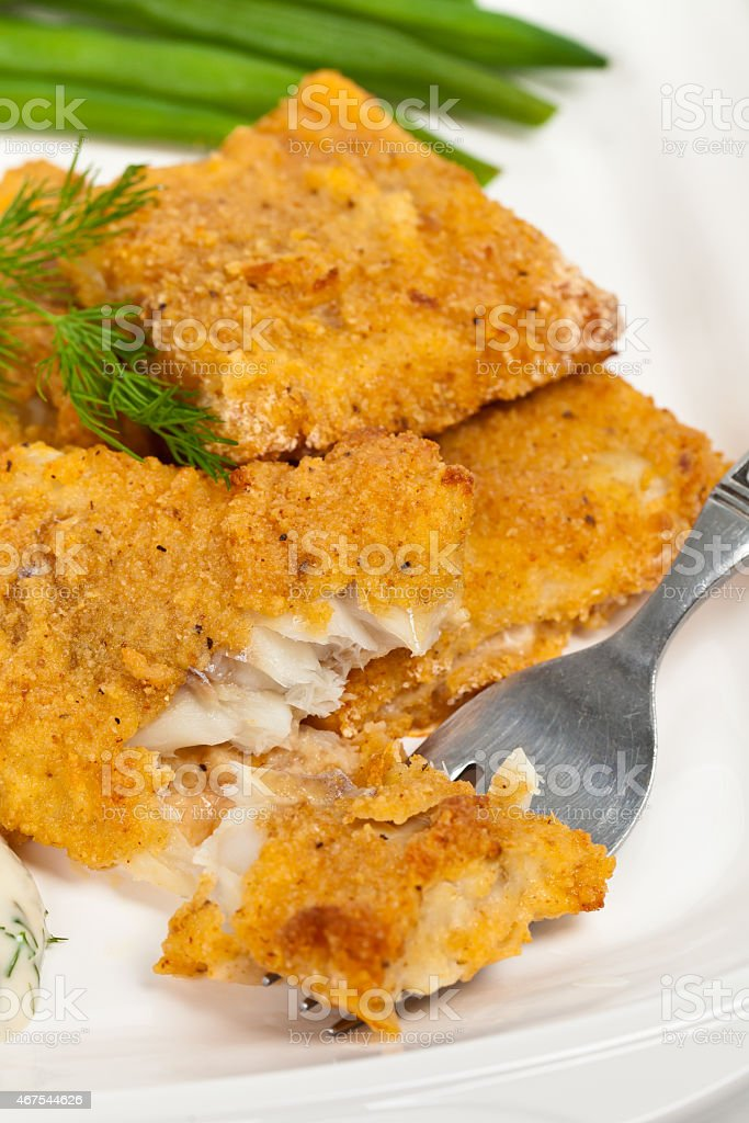 Fish dish stock photo