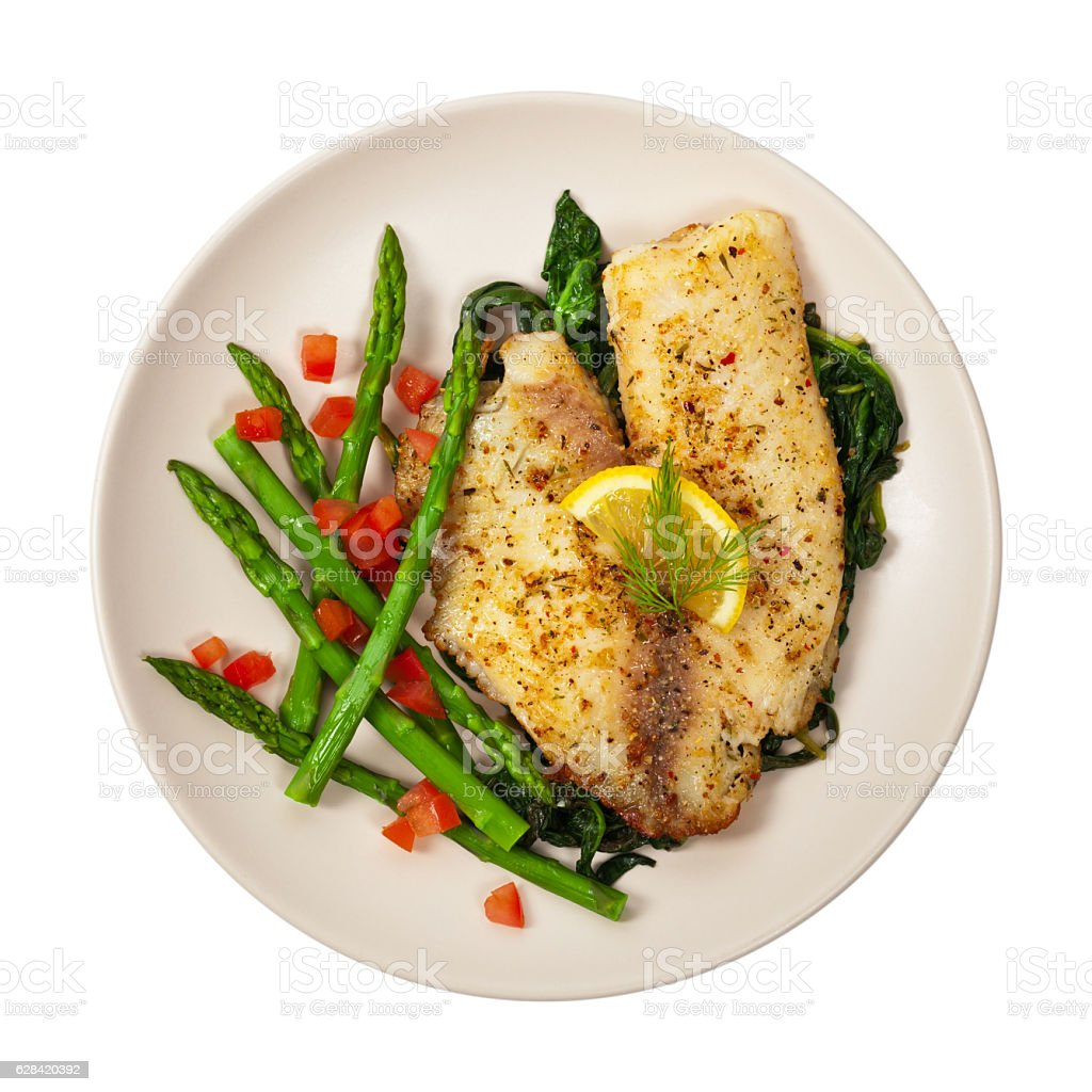 Fish dish stock photo