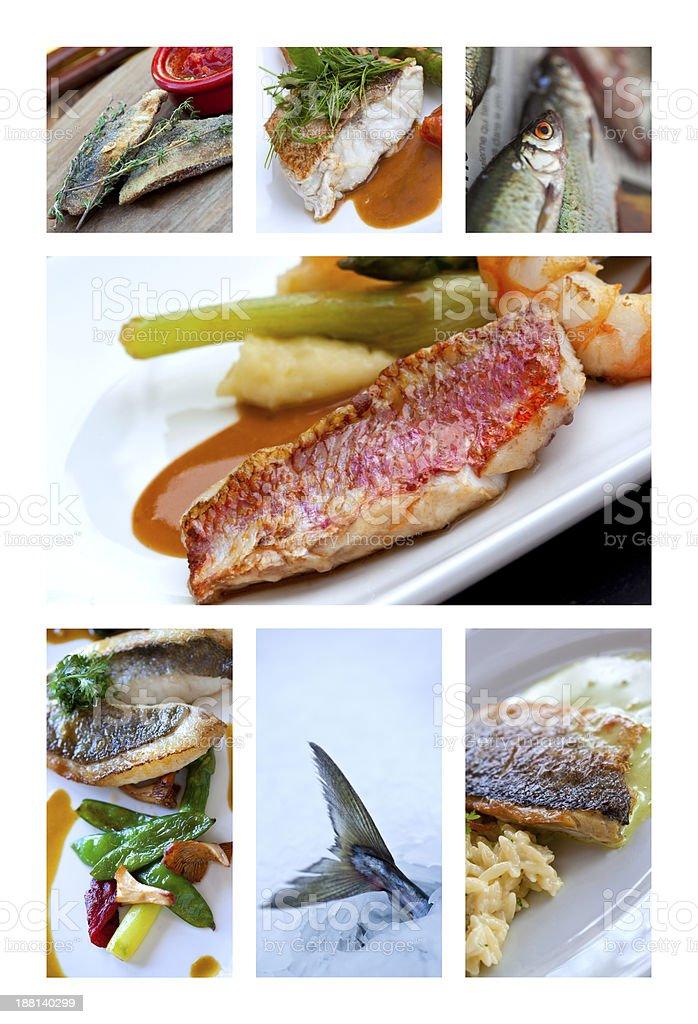 Fish dishes stock photo