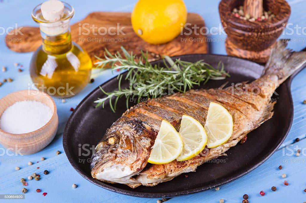 Fish dorado stock photo
