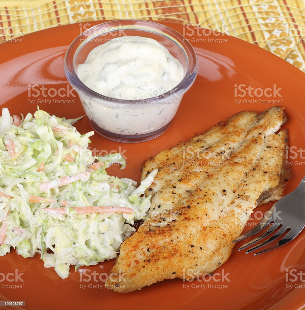 Fish Fillet Meal stock photo