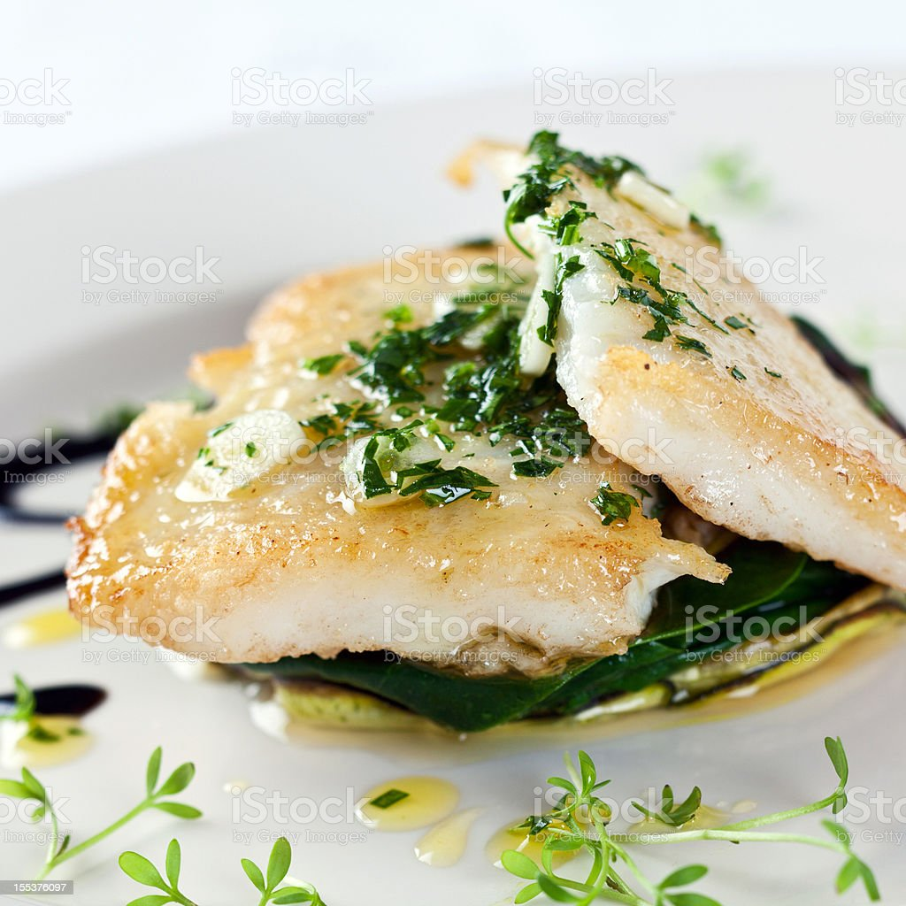 Fish fillet with vegetable stock photo