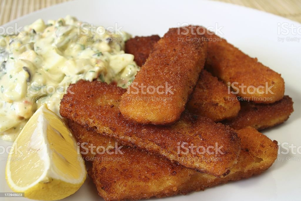Fish fingers stock photo