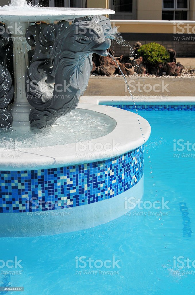 Fish fountain stock photo