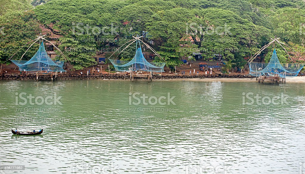 Fish from sea or land - Fort Kochi, India stock photo