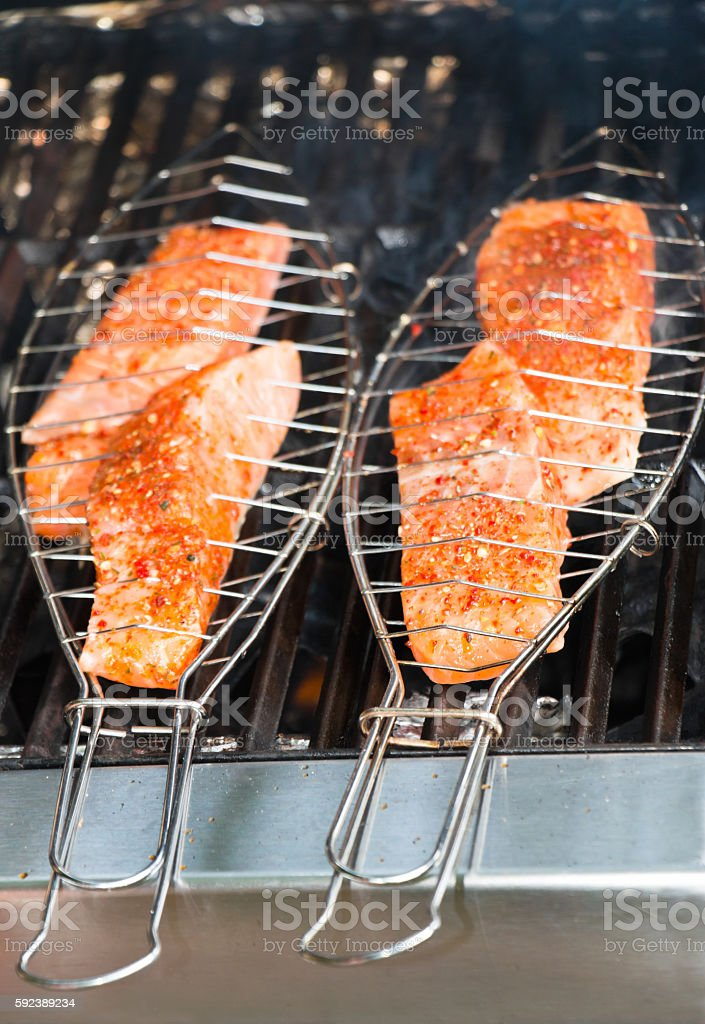 BBQ Fish Grill Clamp stock photo