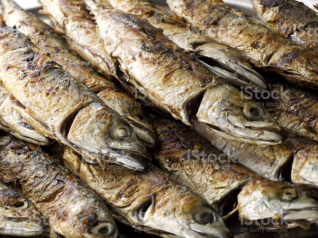 Fish grill royalty-free stock photo