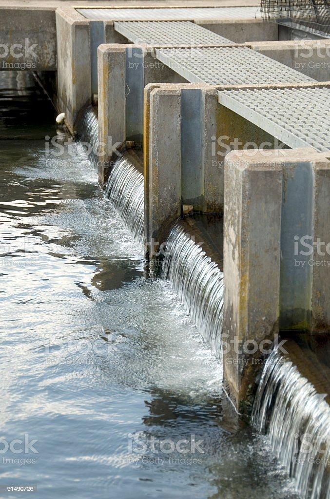 Fish Hatchery Tank Spillway royalty-free stock photo