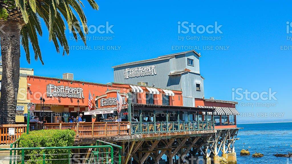 Fish Hopper Restaurant, Monterey, CA stock photo
