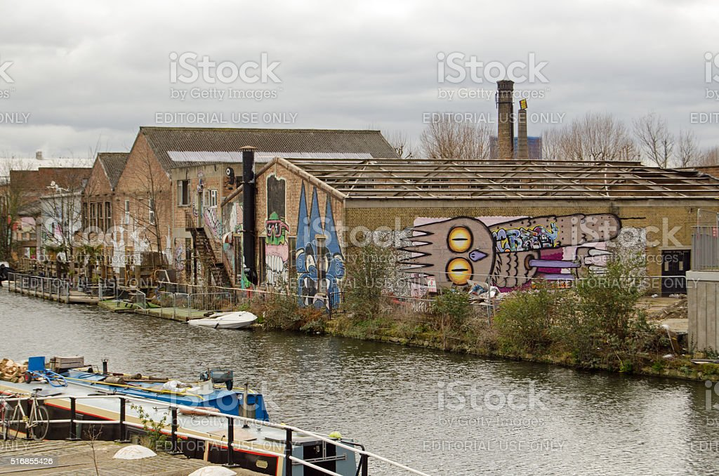 Fish Island, Hackney, London stock photo