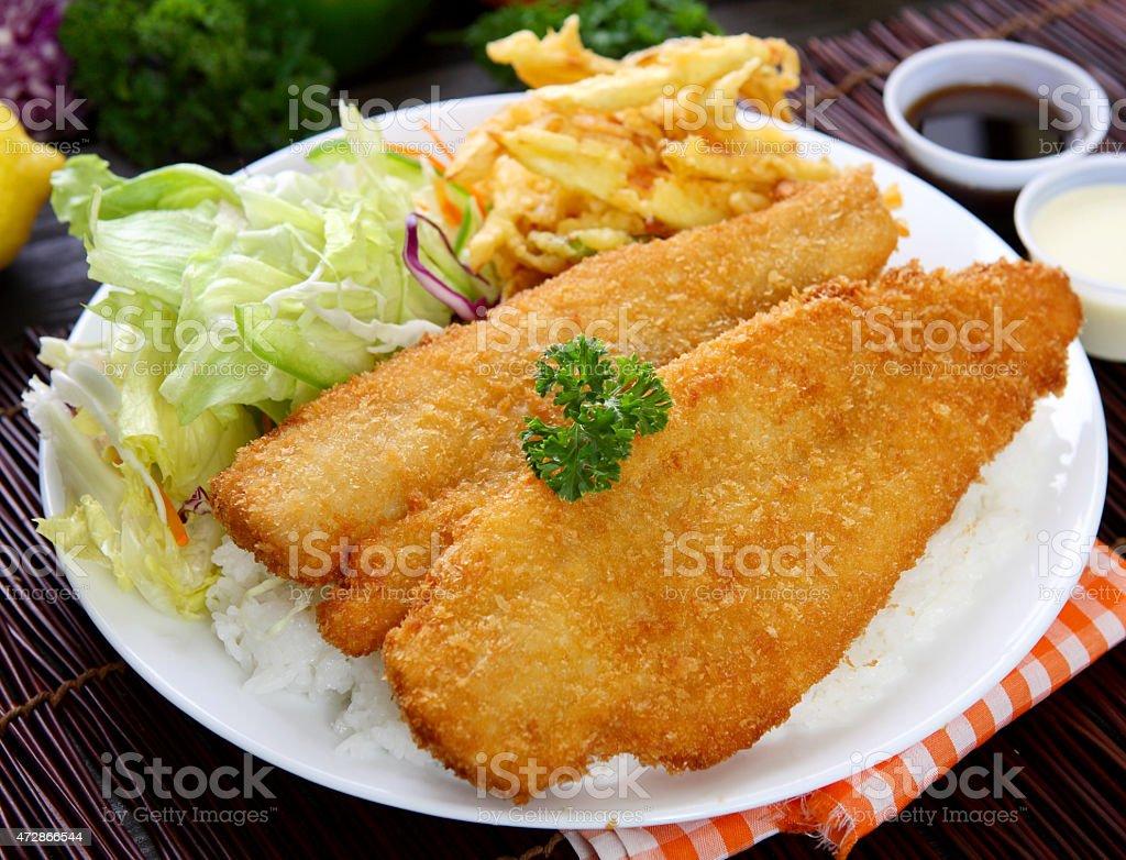 Fish Katsu stock photo