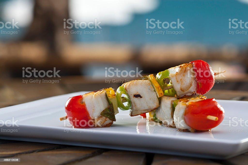 Fish Kebab stock photo
