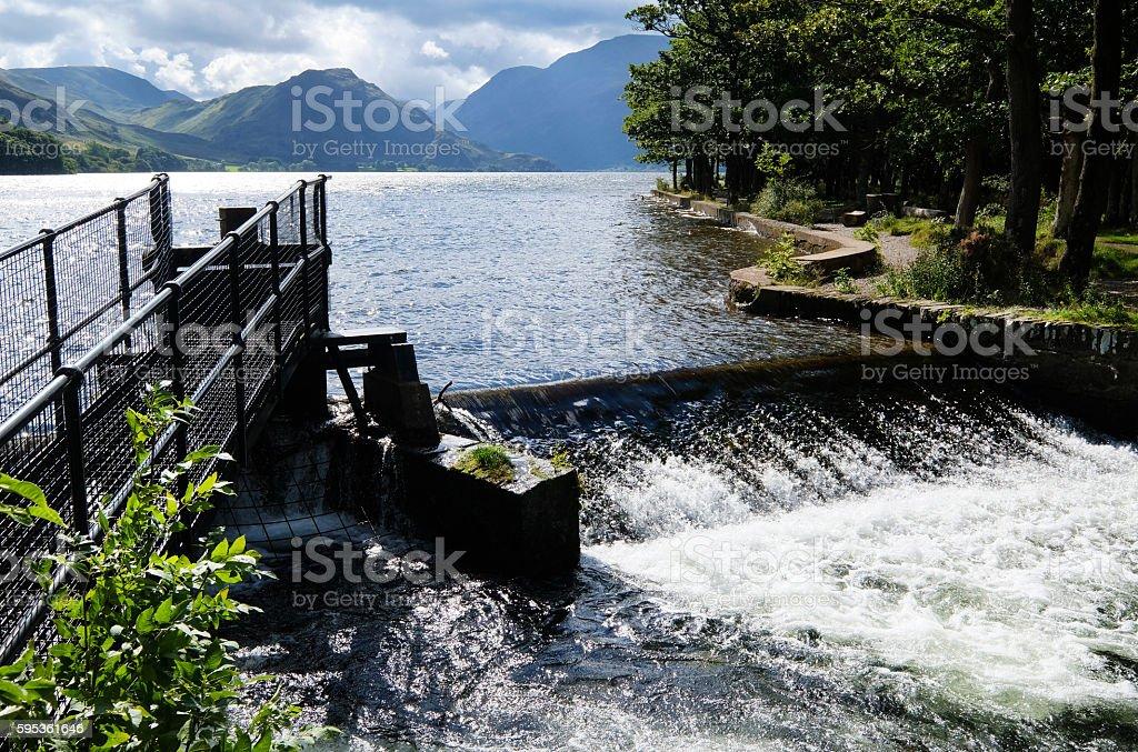 Fish Ladder in English Lake District stock photo