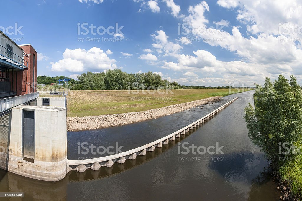 Fish Ladder in (North) Germany stock photo