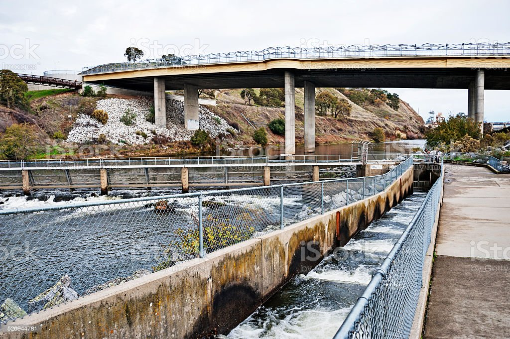 Fish Ladder in Ranchol Cordova stock photo