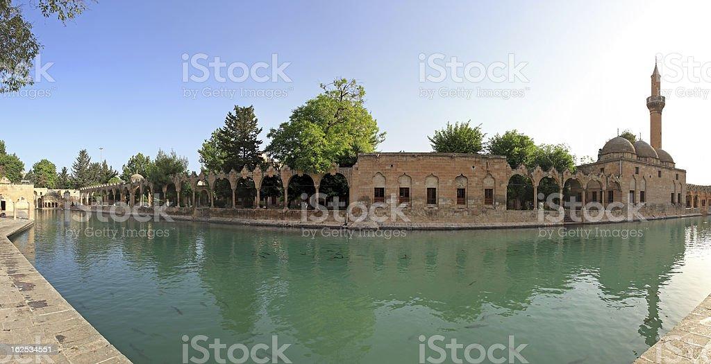 Fish Lake (Balikli Gol), Sanliurfa, Turkey royalty-free stock photo