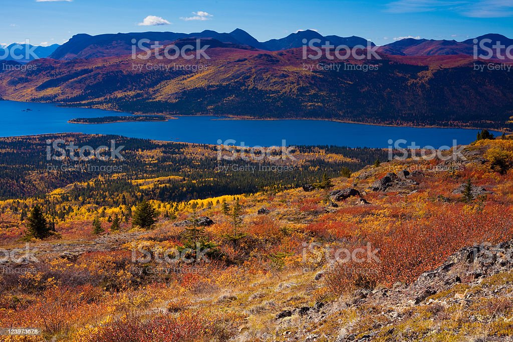 Fish Lake, Yukon Territory, Canada royalty-free stock photo