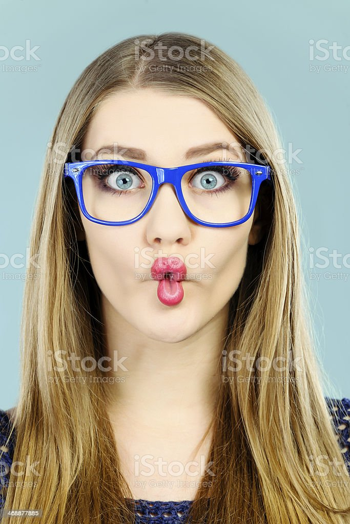 fish lips stock photo