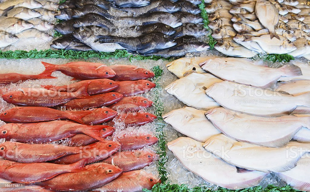Fish Market Display stock photo