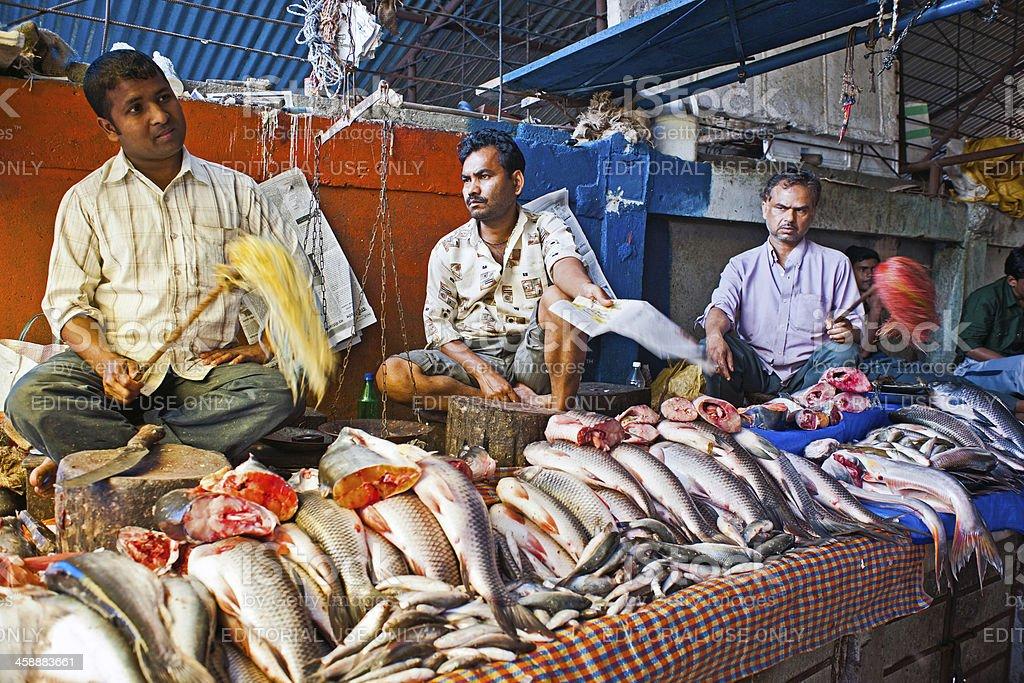 Fish Market in Kalimpong Darjeeling, West Bengal India royalty-free stock photo