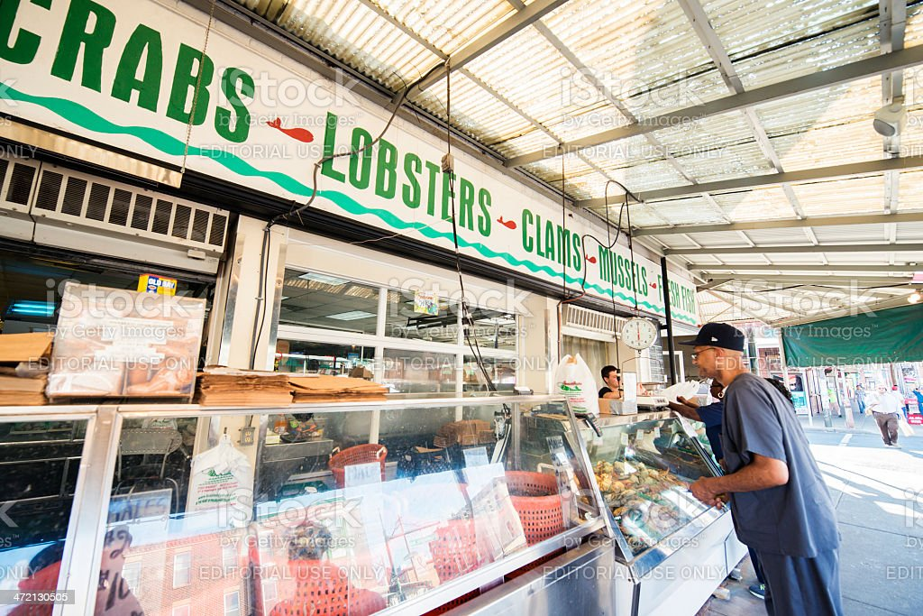 Fish Market in Philadelphia royalty-free stock photo