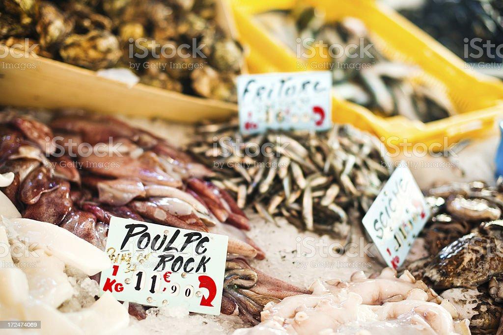 Fish market in Provence stock photo