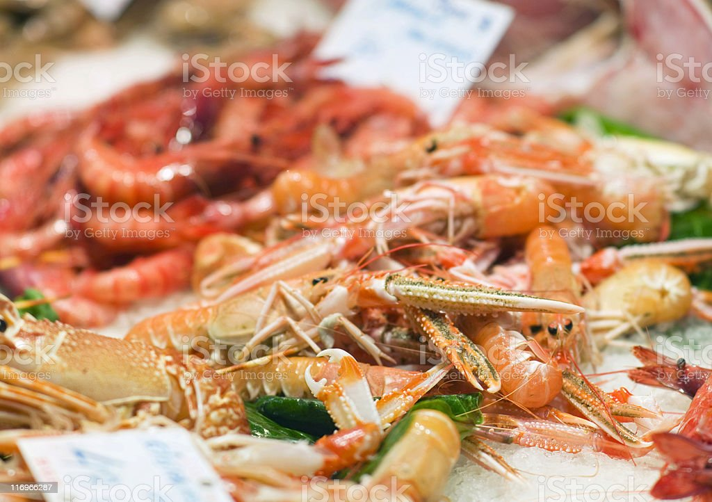 Fish market. stock photo