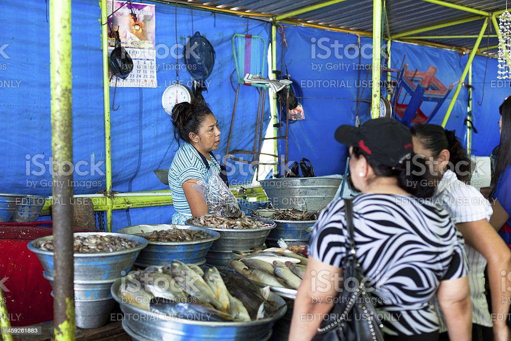 Fish market stock photo