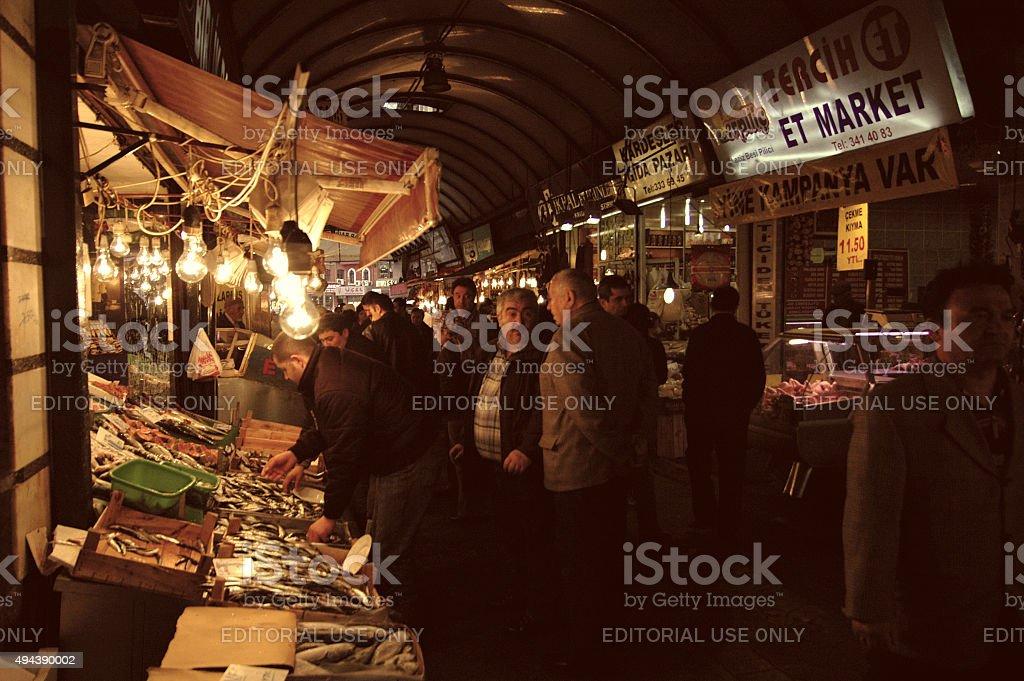 Fish market. stock photo